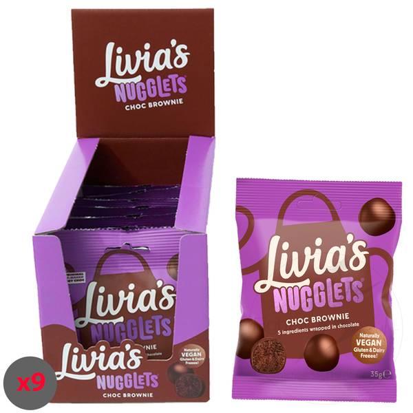 Bilde av Livia`s Kitchen - Choc Brownie Nugglets 35g