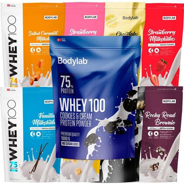 Bilde av Bodylab - Whey 100 (Pakketilbud 6x1kg)