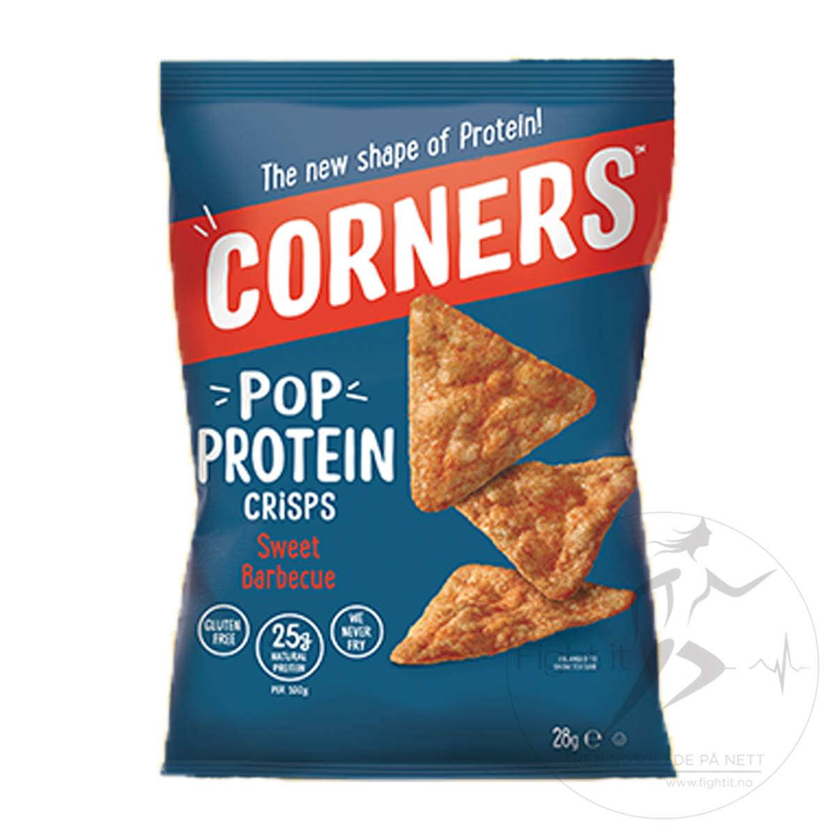 Corners - Pop Protein Crisps - Sweet BBQ 28g