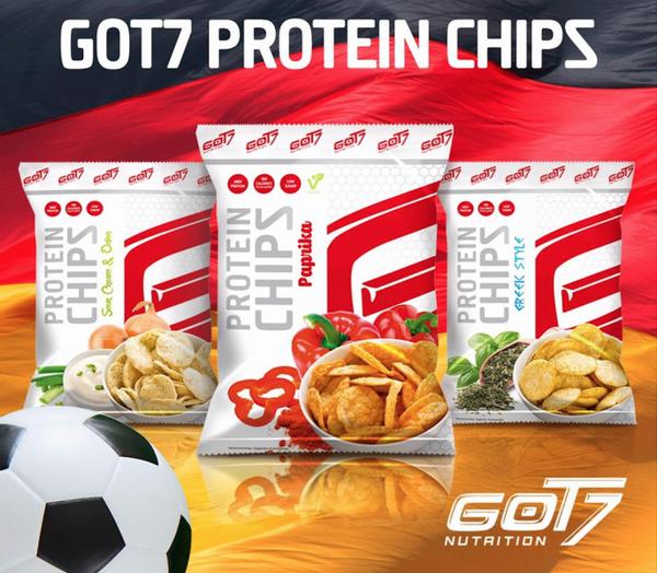 Bilde av GOT7 - Protein Chips - Paprika 50g