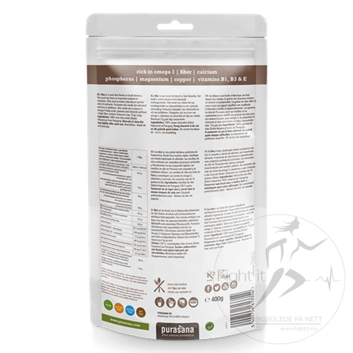 Purasana - Chia Raw Seeds 200g