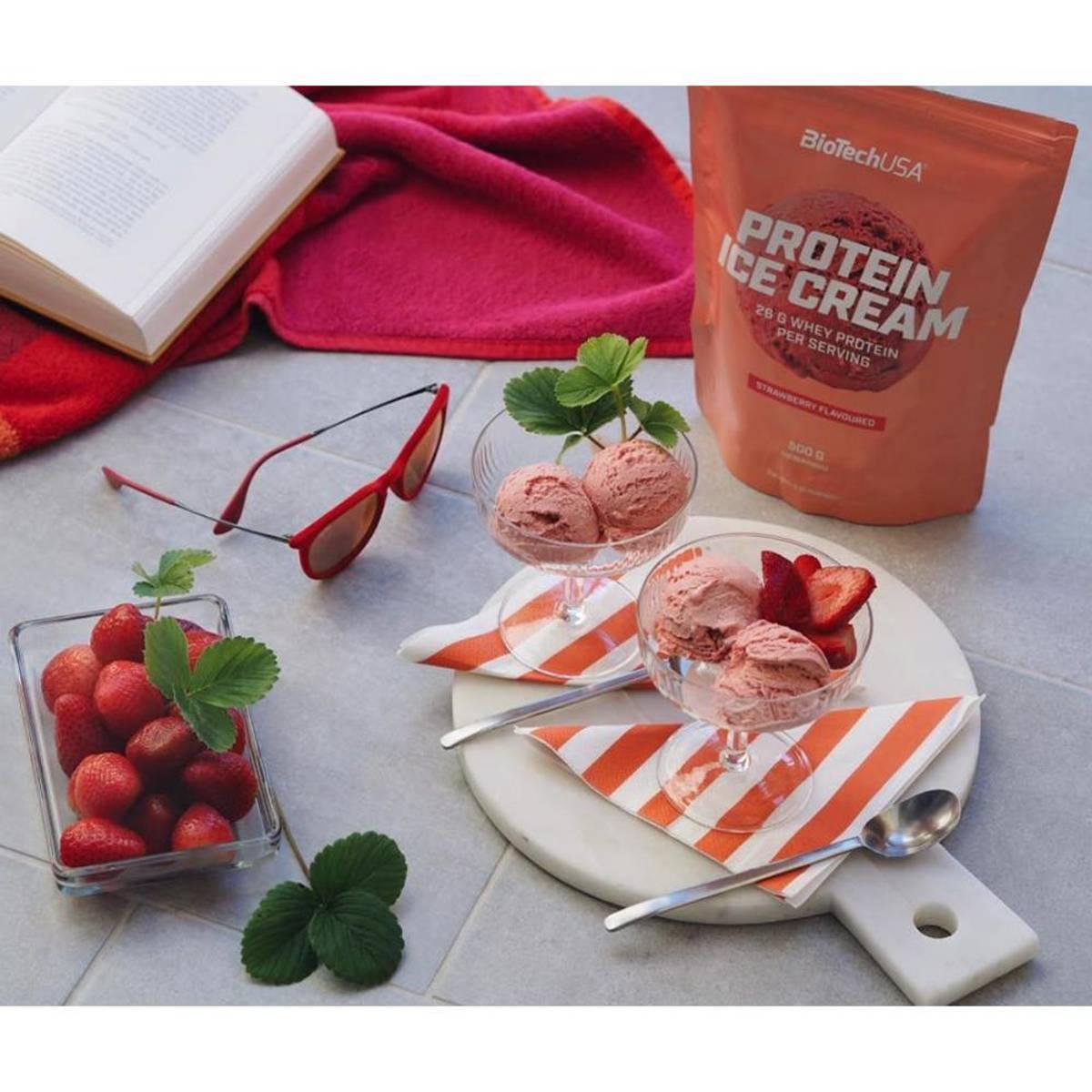 BiotechUSA - Protein Ice Cream Strawberry 500g