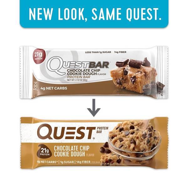 Bilde av Questbar - Chocolate Chip Cookie Dough (12x60g)