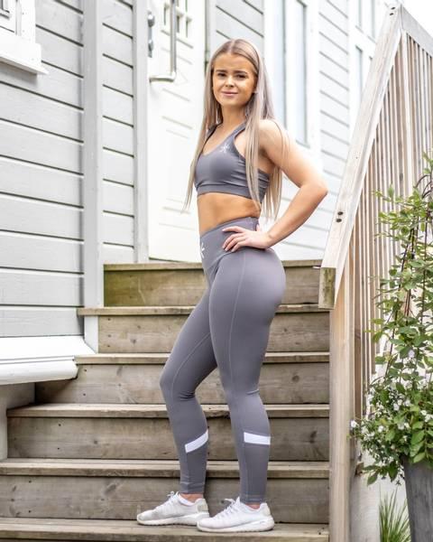 Bilde av BARA Sportswear - Charcoal Swift Sportsbra