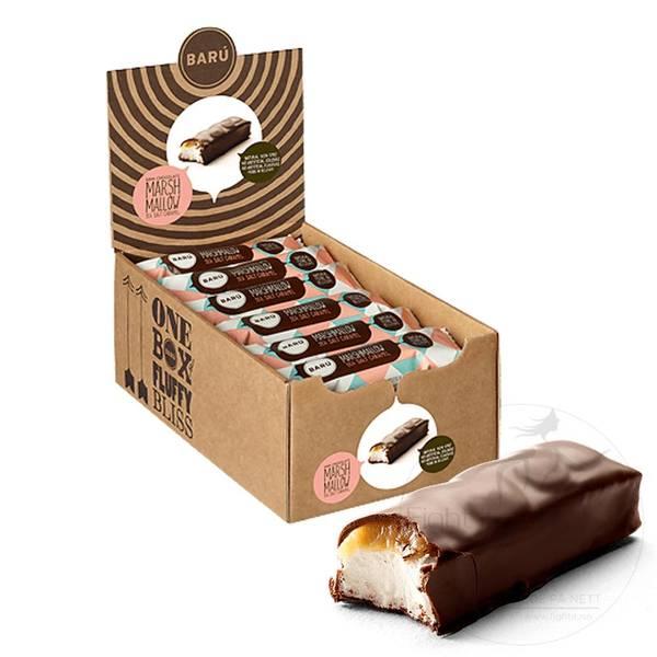 Bilde av Baru - Marshmallow Bar Dark Chocolate & Sea Salt Caramel 30g