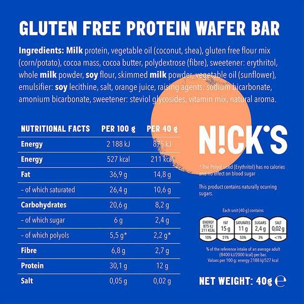 Bilde av Nicks Protein Sport-Crunch - Orange (25X40g)