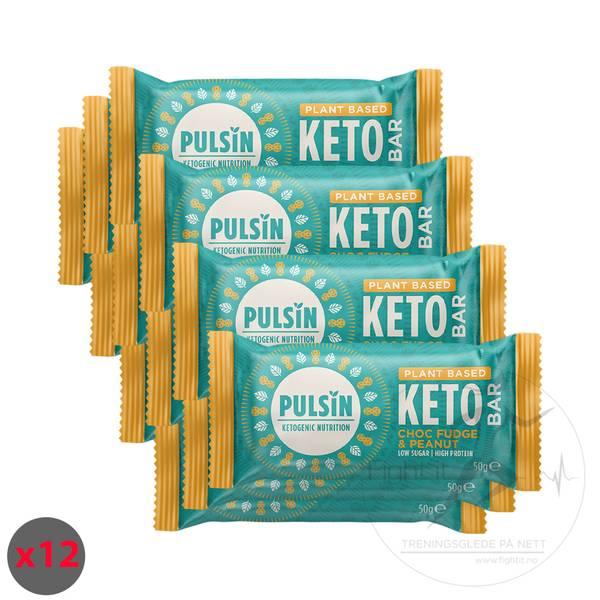 Bilde av Pulsin Keto Bar - Choc Fudge & Peanut 50g