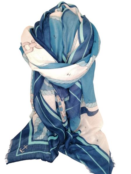 Bilde av E-02211 blue anker print