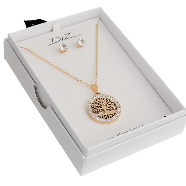 Bilde av Box 15 livets tre smykkesett i gaveeske