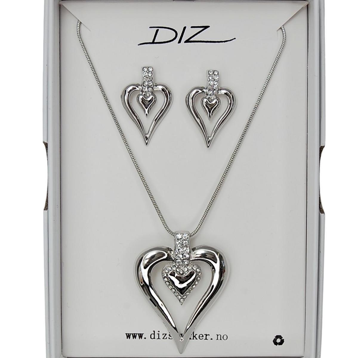 Box 1728-R smykkesett hjerte