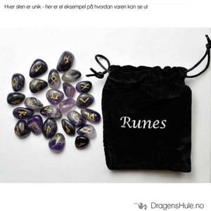 Bilde av Pynt: Runesteiner i pose, Ametyst