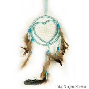 Bilde av Drømmefanger: 1 Ring og Hjerte, lyseblå 13cm