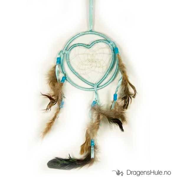 Drømmefanger: 1 Ring og Hjerte, lyseblå 13cm