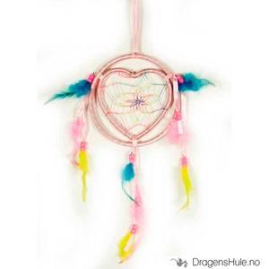 Bilde av Drømmefanger: 1 Ring og Hjerte, lyserosa 13cm