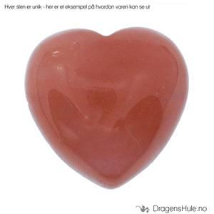 Bilde av Mineral: Hjerteformet 2,5cm Rødkvarts / ´Cherry Quartz´