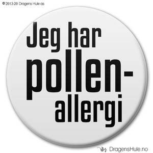Bilde av  Button: Jeg har pollenallergi (velg farge)