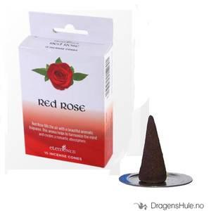Bilde av Røkelse: Elements Red Rose Dhoop kjegler