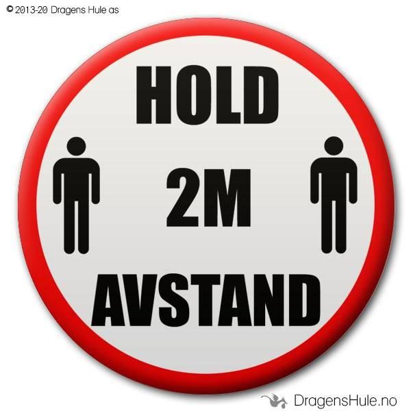 Button: Hold 2m avstand