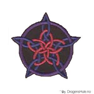 Bilde av Stoffmerke: Knutepentagram
