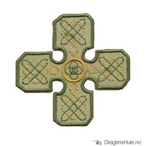 Bilde av Stoffmerke: Kors med knutemønster