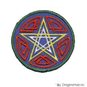 Bilde av Stoffmerke: Pentagram flerfarget