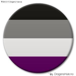 Bilde av  Button: Flagg Pride Aseksuell