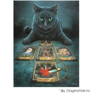 Bilde av Lerretstrykk: Lisa Parker: The Reader Black Cat 19x25cm