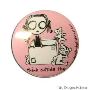 Bilde av Button 37mm: Eve L: Think outside the