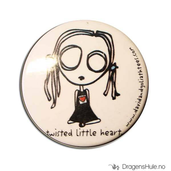 Button 37mm: Eve L: Twisted little heart
