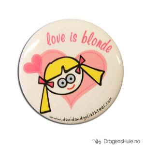 Bilde av Button 37mm: Love is blonde