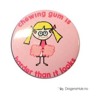 Bilde av Button 37mm: Blöndie: Chewing gum is harder than it looks