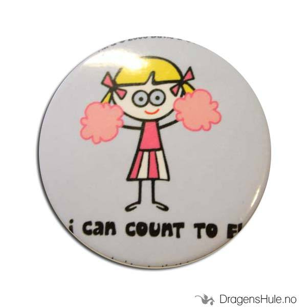 Button 37mm: Blöndie: I can count to F!