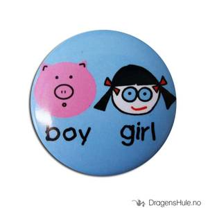 Bilde av Button 37mm: Boy Girl