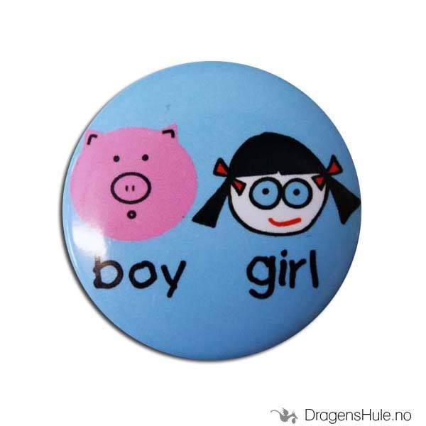Button 37mm: Boy Girl