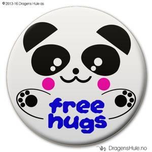 Bilde av  Button: Free Hugs Panda D