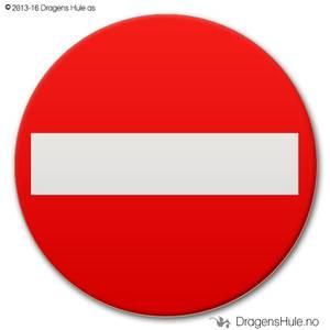 Bilde av  Button: Innkjøring Forbudt