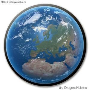 Bilde av  Button: Jordkloden