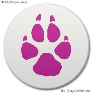 Bilde av  Button: Kattepote (velg farge)