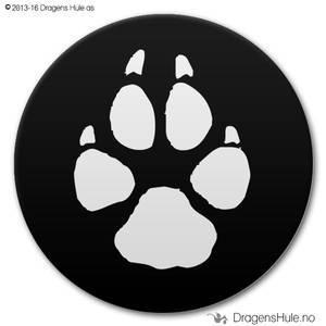 Bilde av  Button: Kattepote på svart