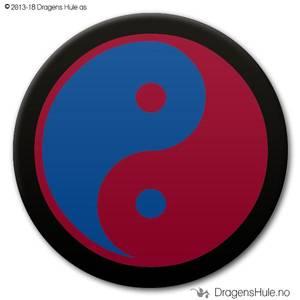 Bilde av  Button: Yin Yang Taiji Rød-Blå