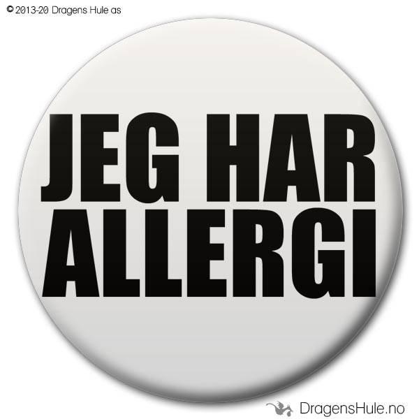 Button: Jeg har allergi (velg farge)
