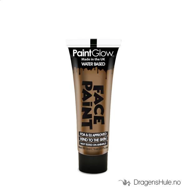 Sminke: Light Brown Face Paint -13ml PaintGlow