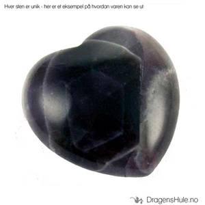 Bilde av Mineral: Hjerteformet 3cm Ametyst / ´Amethyst´