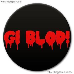 Bilde av  Button: Gi blod! (velg farge)