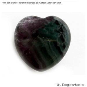 Bilde av Mineral: Hjerteformet 2,5cm Fluoritt / ´Fluorite´