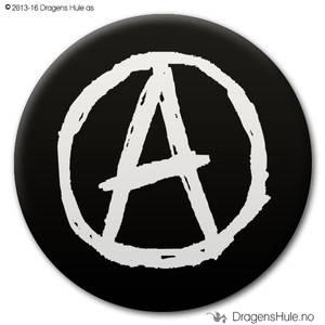 Bilde av  Button: Anarki på svart (velg farge)
