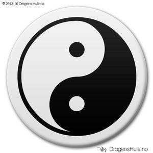 Bilde av  Button: Yin Yang Taiji (velg farge)