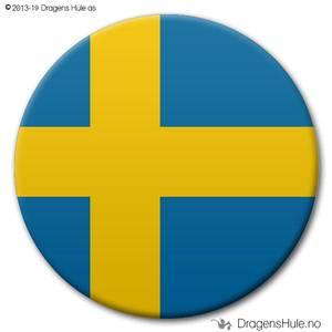 Bilde av  Button: Flagg Sverige