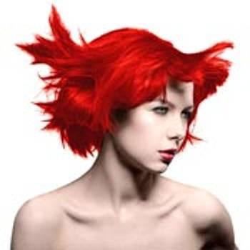 Røde og gule hårfarger