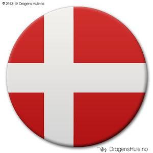 Bilde av  Button: Flagg Danmark